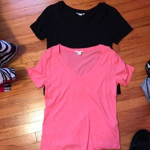 Two Forever 21 plain colored tops.